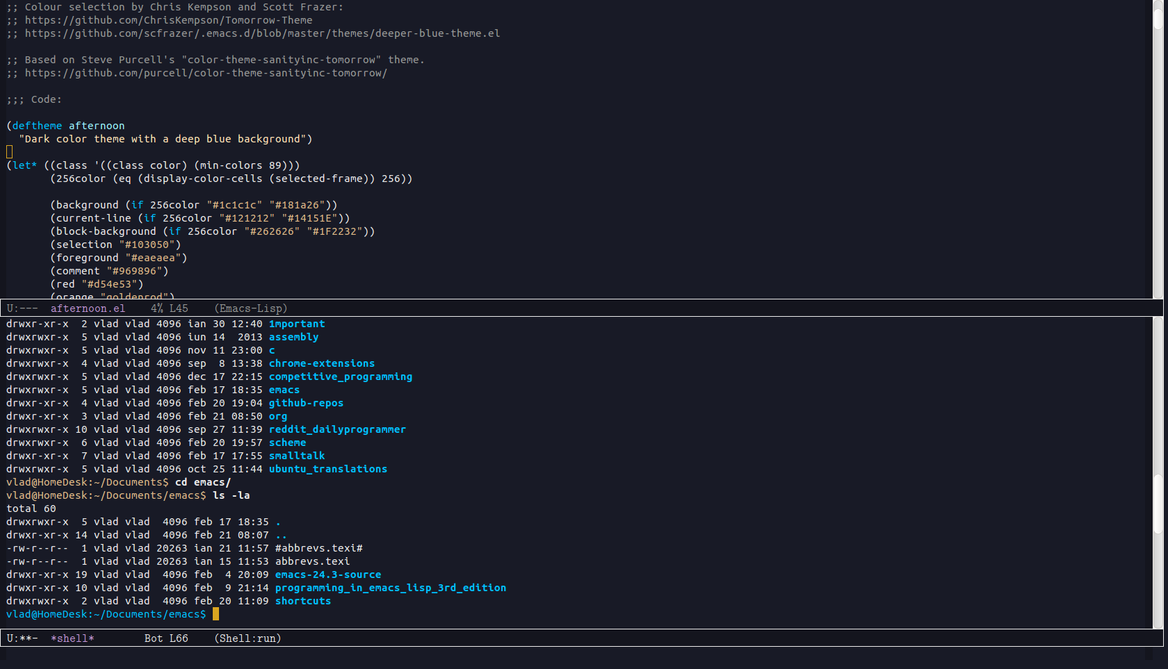 Afternoon Theme | Emacs Themes
