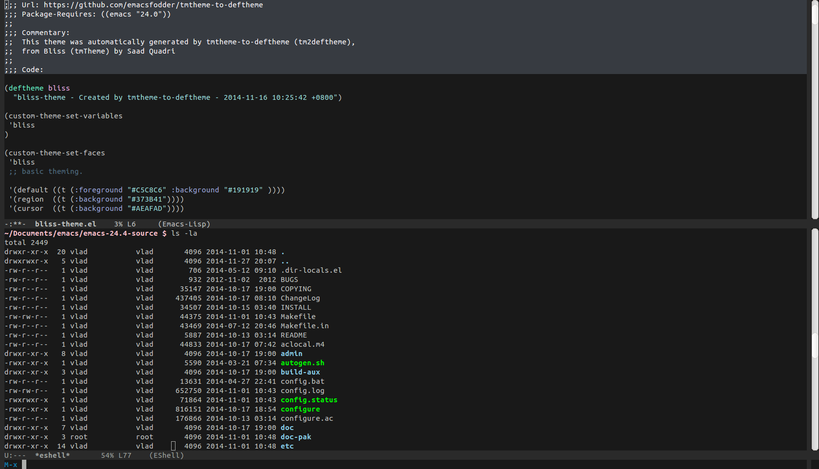 Bliss Theme | Emacs Themes