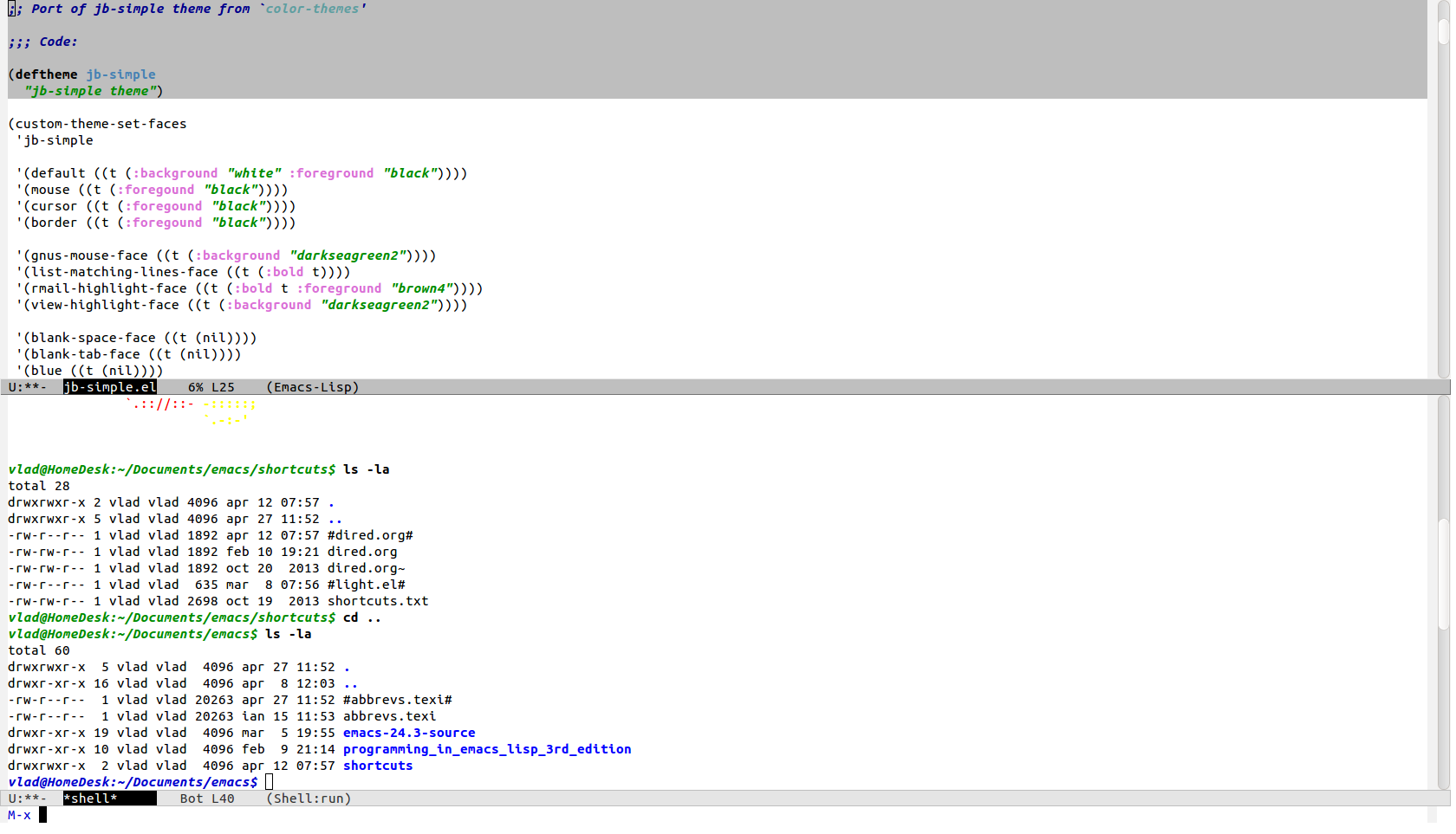 JB Simple Theme | Emacs Themes