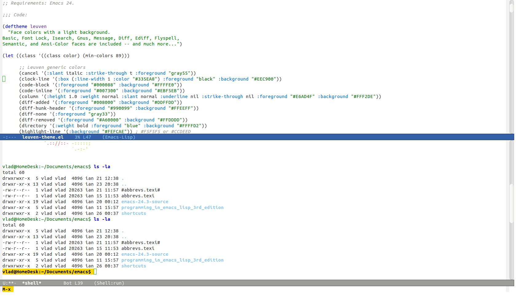 Emacs Terminal Colors