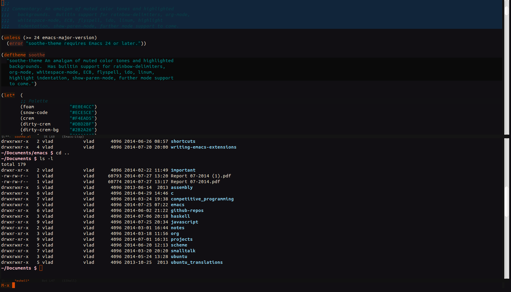 Soothe Theme | Emacs Themes